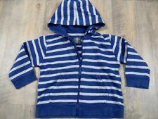 H&M LOGG schöne blau grau gestreifte Kapuzensweatjacke Gr. 86  DD1017