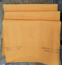 "LOT OF 3-Original 20""X27"" Orange Super Absorbent German Shammy Cloths"