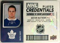 2017-18 Auston Matthews MVP NHL Player Credentials Level 1 Access #NHL-AM Leafs