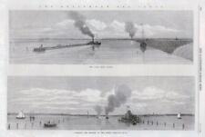 1869 Antique Print - HOLLAND AMSTERDAM SEA CANAL VALSEN WIJKERMEER DREDGING (114