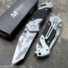 MTECH USA URBAN CAMO Pocket Tanto Knives Tactical G10 Rescue Military USMC Knife