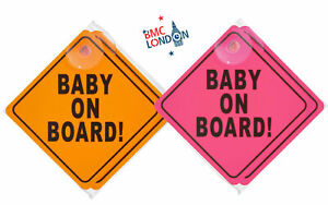 Baby on Board Car Sign for Kids And Baby Safety Warning with Suction Cups