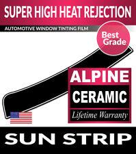 ALPINE PRECUT SUN STRIP WINDOW TINT FILM FOR TOYOTA PICKUP STD W/ VENT 88-95