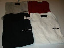 Men Abercrombie & Fitch Printed Logo Short Sleeve, Pocket T-Shirts NWT