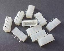 10x Molex 4 Pin Pins Computer Power Connector PCB Straight Socket for Hard Drive