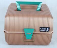 SASSABY Makeup Train Travel Case Organizer w Mirror Copper and Green Clean