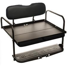 Black EZGO Marathon (Pre 1994) Golf Cart 'Classic'  Rear Flip Back Seat Kit