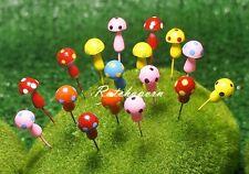 10 Pcs Miniature Dollhouse Fairy Garden Accessories Terrarium Tiny Mushroom #23