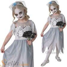 niña Novia Cadaver Disfraz de Terror Halloween Ghost Infantil Disfraz