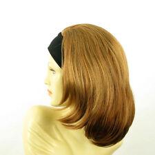 Perruque avec bandeau blond foncé cuivré ref MADY en G27