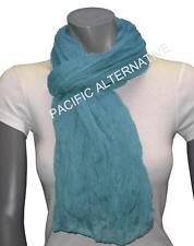 Foulard Bleu ciel clair grand gros 110x170 femme mixte chale echarpe NEUF scarf