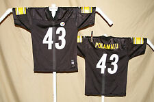 Troy Polamalu   PITTSBURGH STEELERS   Reebok JERSEY   Youth Large   NWT    black