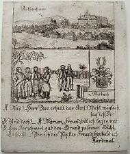SERRATURA Rossa Castello Červený Hrádek Erzgebirge Česká Repubblica chiave RAME 1780