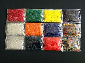 12 Bag (3900++pcs) 3D Crystal Soil Jelly bead All Party Decor Orbeez refill H-23