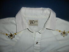 vtg EMBROIDERED WESTERN SHIRT Eagle Pearl Snap 70's 80s