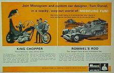 1969 Monogram Model Kit ~ Rommel's Rod Desert Fox Military Boys Toys Promo AD