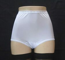 NANCY KING Retro Styling 100% Nylon Full-Cut White Brief Size 8XL