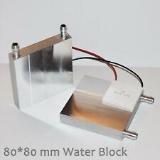 80 x 80 mm Water Cooling heatsink radiator block for Peltier (fits 4 chips)