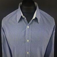 GANT Mens Shirt 2XL Long Sleeve Blue Regular Fit Check Cotton Gingham