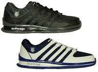BRAND NEW MENS K.SWISS RINZLER LACE UP TRAINERS FOOTWEAR IN GREY-WHITE COLOURS