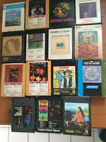 LOT OF 15 8 TRACK TAPES-Savoy Brown, BS&T,10 Years After,Traffic,Hair,Steppenwlf