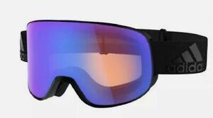 Adidas Progressor Splite AD85/75 Ski Snowboarding Goggles Black Blue