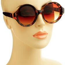 Unique Pop Out Frame Womens Retro Vintage Style Cirlce Round Sunglasses Tortoise