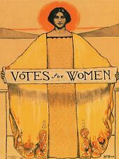 POLITICAL PROPAGANDA SUFFRAGE WOMEN USA VOTES VINTAGE ADVERT POSTER 1920PYLV
