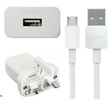 Genuine Huawei Mains Charger+Huawei Micro USB Fast Data Cable For Huawei Phones