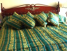 VERSACE Silk comforter King size home edition and four(4) matching pillows NEW