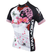 Women's Cycling Jersey Ladies Short Sleeve Cycling Bike Bicycle Shirt Quick