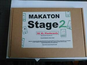 59 A5 XL Makaton Stage 2 Flashcards Signs & symbols + A4 Poster sen salt autism