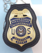 Bail & Fugitive Enforcement Recovery Agent Metal Badge 2 3/4 Inch & Holder B