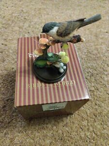 Country artist bird figurine willow tit with funghi 03233 Boxed Immaculate