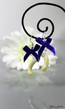 Glass Jewels Silber Ohrringe Ohrhänger Oktoberfest Weißwürste Lampwork #C087