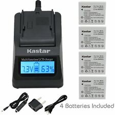 NB-4L Battery & Fast Charger for Canon PowerShot ELPH 300 HS, 310 HS, 330 HS