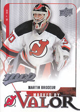 08-09 UPPER DECK MVP MARKED BY VALOR #MV1 MARTIN BRODEUR DEVILS *8192