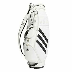 adidas Golf Ladies Cart Caddy Bag Three Stripe 8.5x47 inch 2.7kg White EMH91