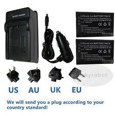 2pk Battery+charger for VIVITAR DVR-390H DVR-550 Vivicam 4000 NP60 Camera