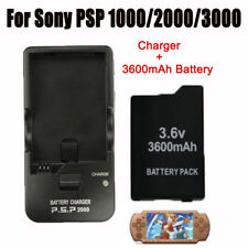 3.6V 3600mAh Battery Pack + Home Wall Travel Charger for Sony PSP 1000/2000/3000