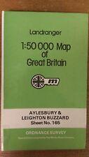 Aylesbury + Leighton Buzzard: Ordnance Survey Landranger Map 1:50000 #165