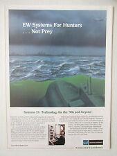 9/89 PUB WATKINS JOHNSON EW SYSTEMS ELECTRONIC WARFARE ANTI SUBMARINE ASW AD