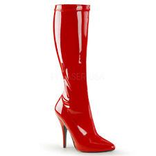 Sale Seduce-2000 elegante Pleaser Damen Lady High Heels Stiefel rot Lack Gr 38