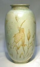 "COBRIDGE POTTERY 8.1/2""  BIRD   VASE SIGNED"