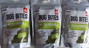 3 X Fluval Bug Bites Pleco Formula Sinking Sticks 130g