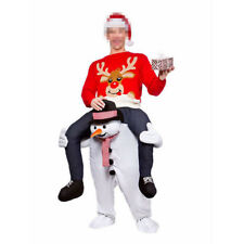 Carry Me Snowman Ride On Piggy Back Mascot Fancy Dress Costume Christmas Gift