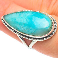 Large Larimar 925 Sterling Silver Ring Size 7.25 Ana Co Jewelry R61086F