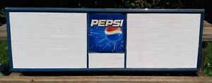 Pepsi Concession Menu Board Sign 6ft x 2ft x 1.5in