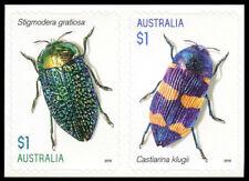 2016 Jewel Beetles - Pair of 2 Self Adhesive Booklet Stamps - MUH