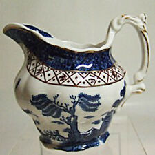"""REAL OLD WILLOW Booth's Creamer 3.5"""" tall NEW NEVER USED Pottery made in England"""